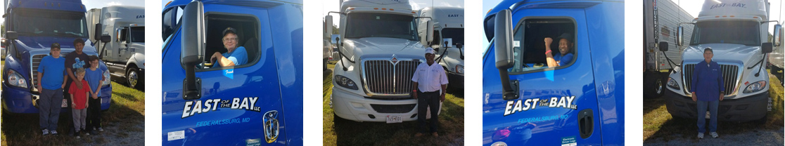 CDL licensed drivers of East of the Bay LLC general freight trucking company.